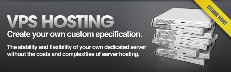 VPS Hosting - Create your own custom specification