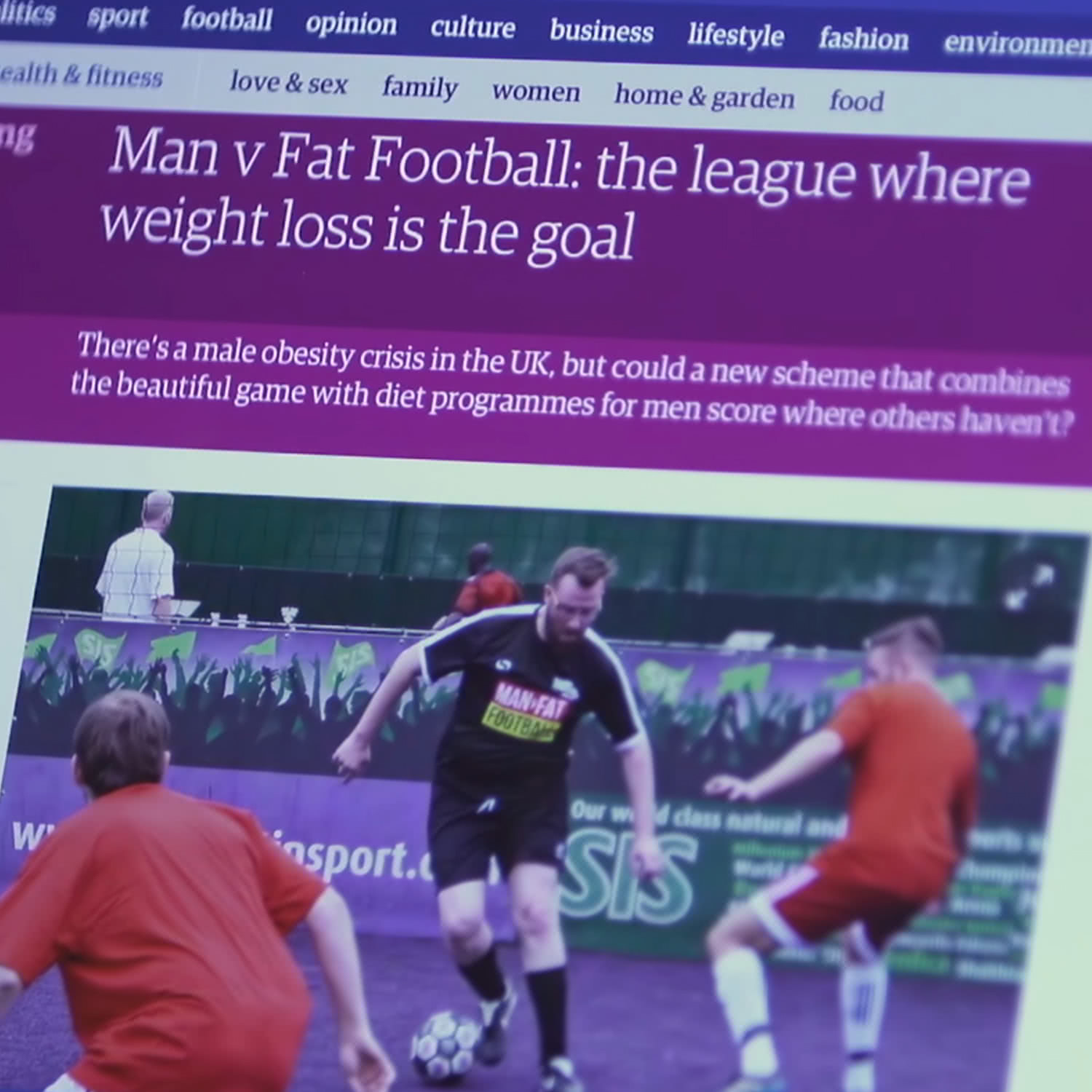 MAN V FAT news article on The Guardian website