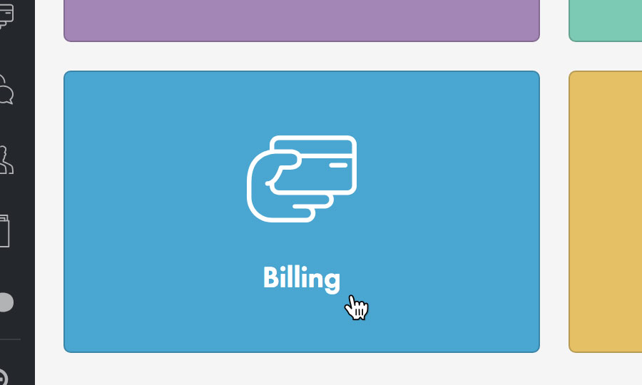 Choose 'Billing'