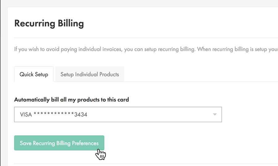 Automatically bill all products