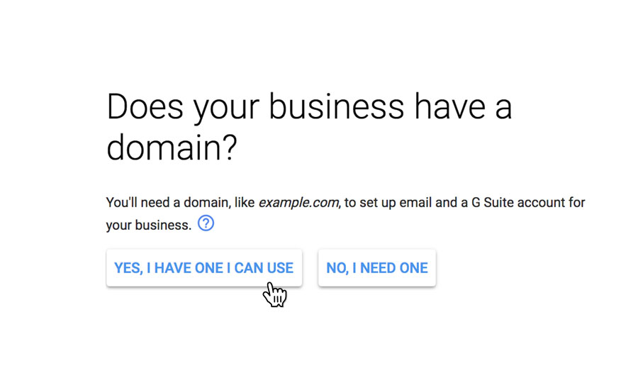 Use your domain name