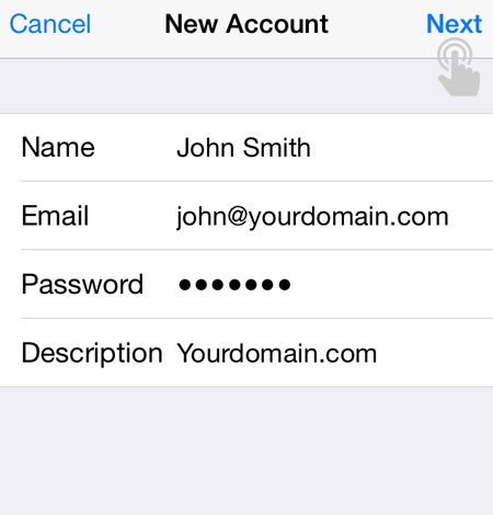 Mail Account Details