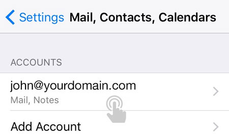 Select your email account