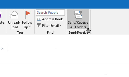 Outlook setup is complete