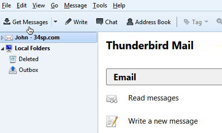 Thunderbird Setup Is Complete
