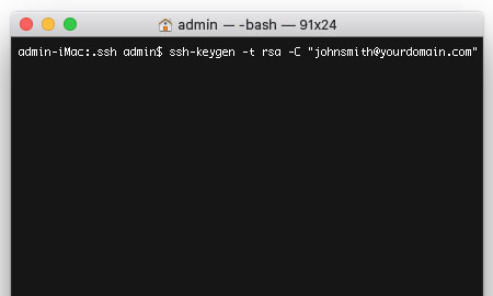 Generate a new SSH key