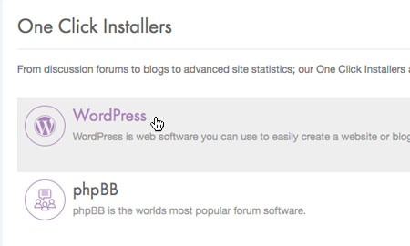 Choose 'WordPress'