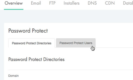 Managing your password protected users
