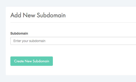 Enter subdomain name