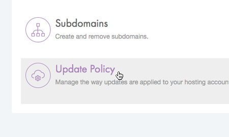 Choose 'Update Policy'