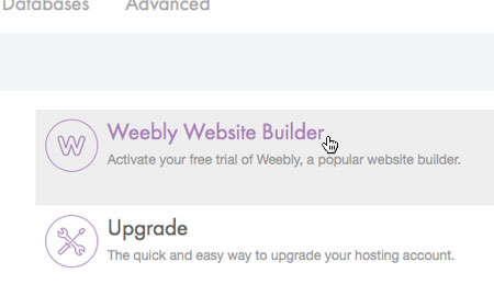 Choose 'Weebly Website Builder'