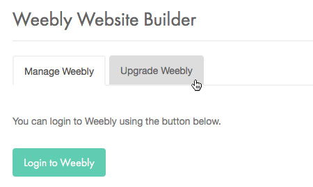Upgrade Weebly