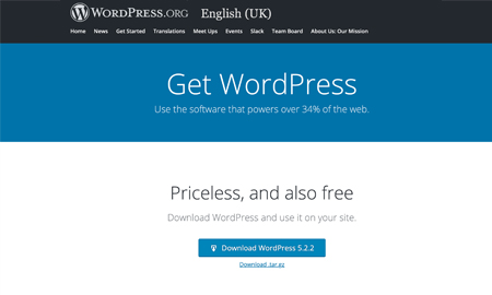 Download WordPress core