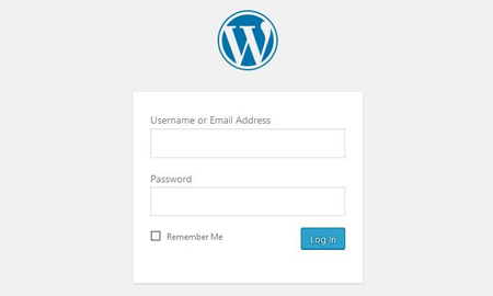 Login to your new WordPress website