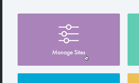 Choose 'Manage Sites'