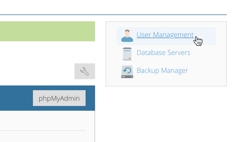 Managing database users