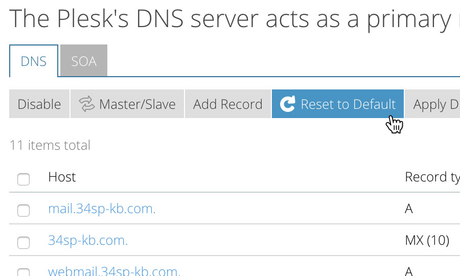 Resetting DNS