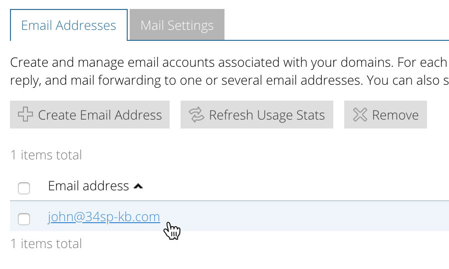 Edit a email address