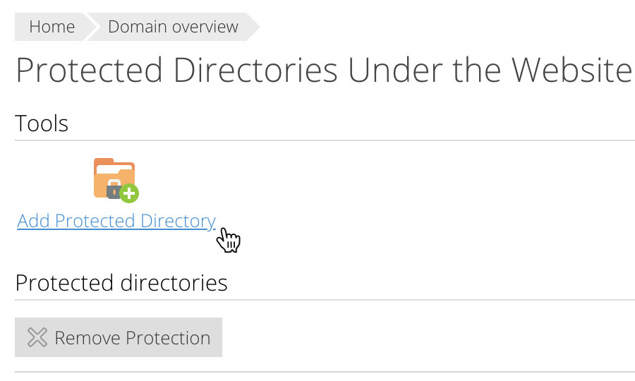 Add Protected Directory