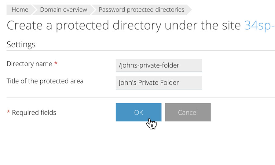 Create Protected Directory