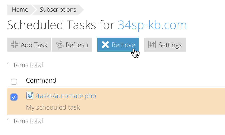 Remove a scheduled task