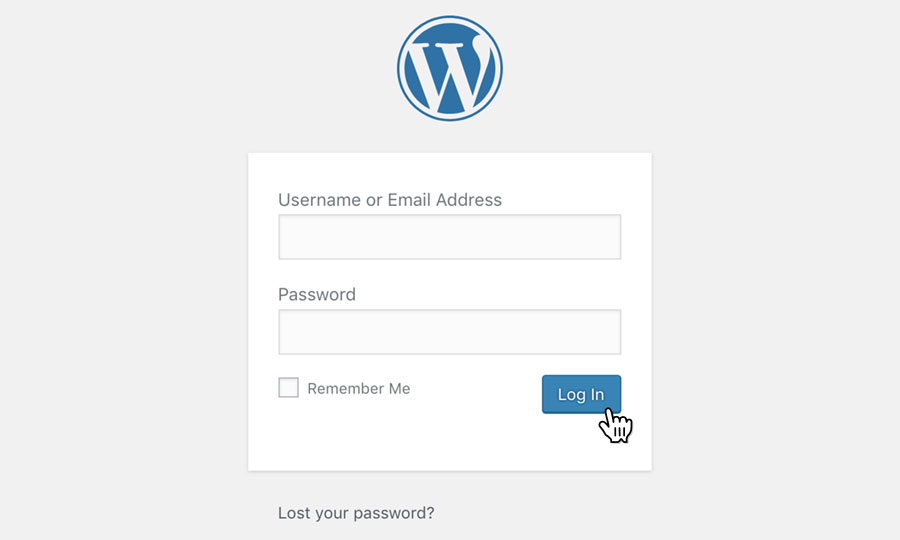 Login to your WordPress site