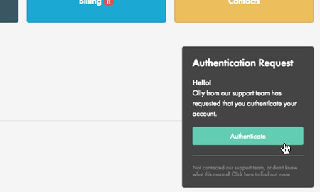 Authenticate call
