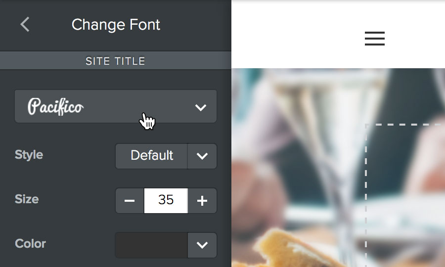 Edit your font settings
