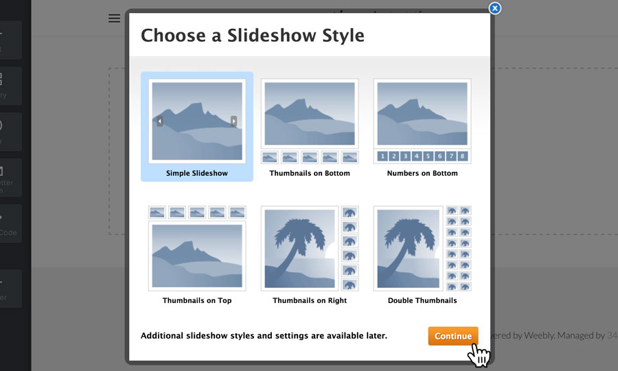 Choose your slideshow style