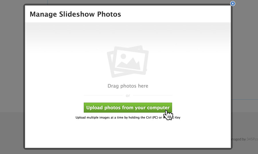 Upload your slideshow images