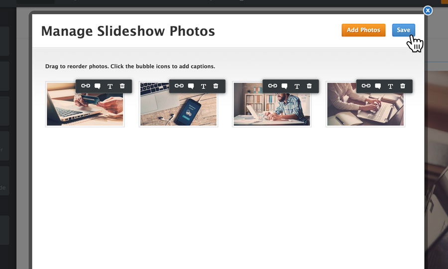 Customise your slideshow images