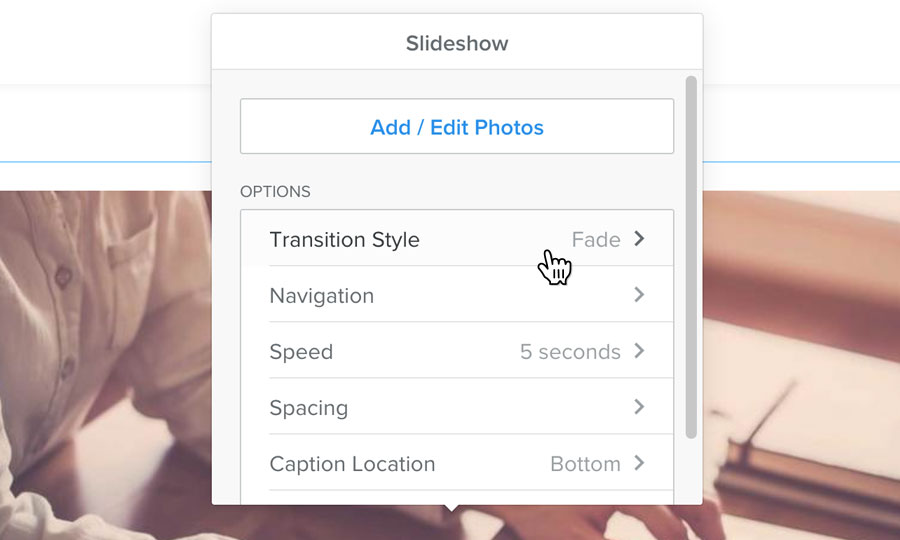 Customise your slideshow
