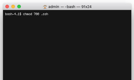 Set permissions on your .ssh folder