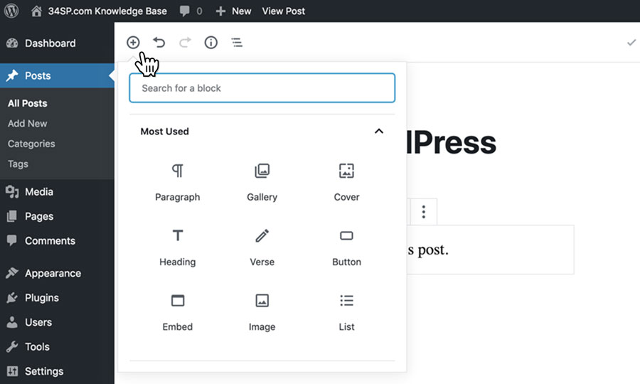 How to use the Gutenberg block editor