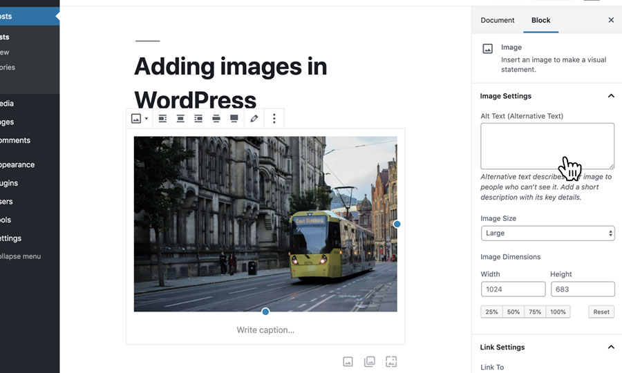 How to add images and image galleries