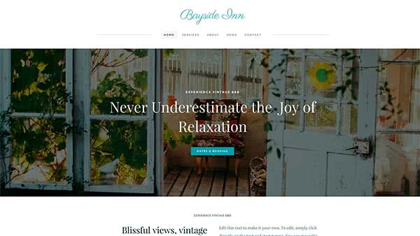 Website Builder template 'Bayside Inn