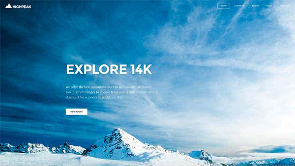 Website Builder template 'High Peak'