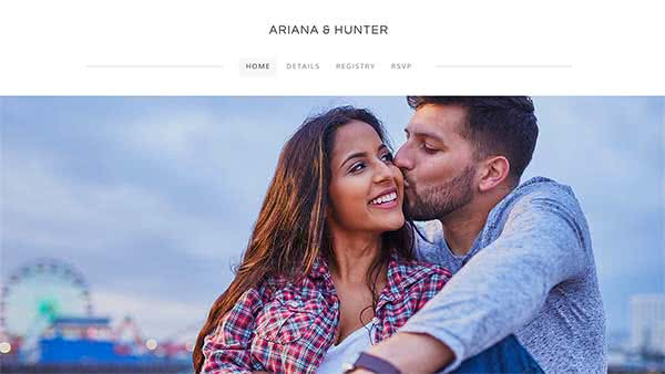 Website Builder template 'Ariana & Hunter'