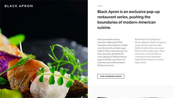 Website Builder template 'Black Apron'