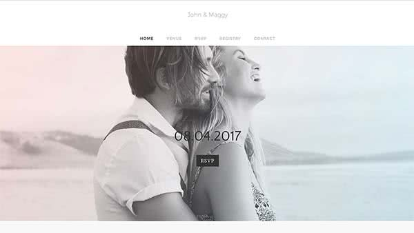 Website Builder template 'John & Maggy'