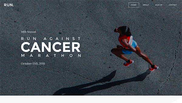 Website Builder template 'Run'