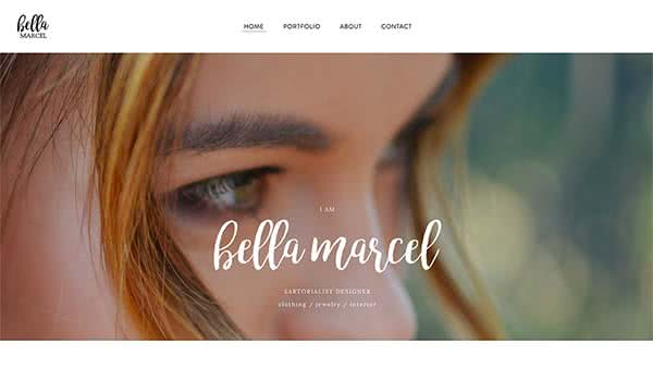 Website Builder template 'Bella Marcel'