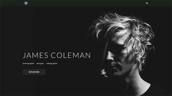 Website Builder template 'James Coleman'