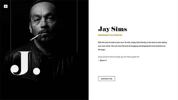 Website Builder template 'Jay Sims'