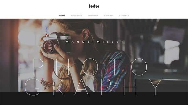 Website Builder template 'Mandy Miller'