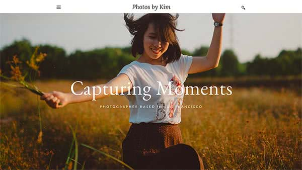 Website Builder template 'Photos by Kim'