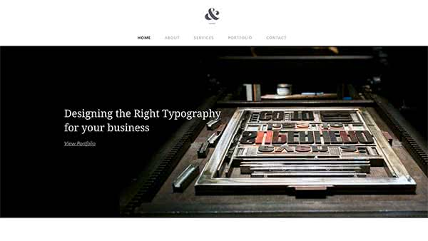 Website Builder template 'Typo Designs'