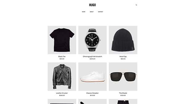 Website Builder template 'Hugo'