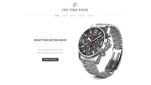 Website Builder template 'The Time Piece'