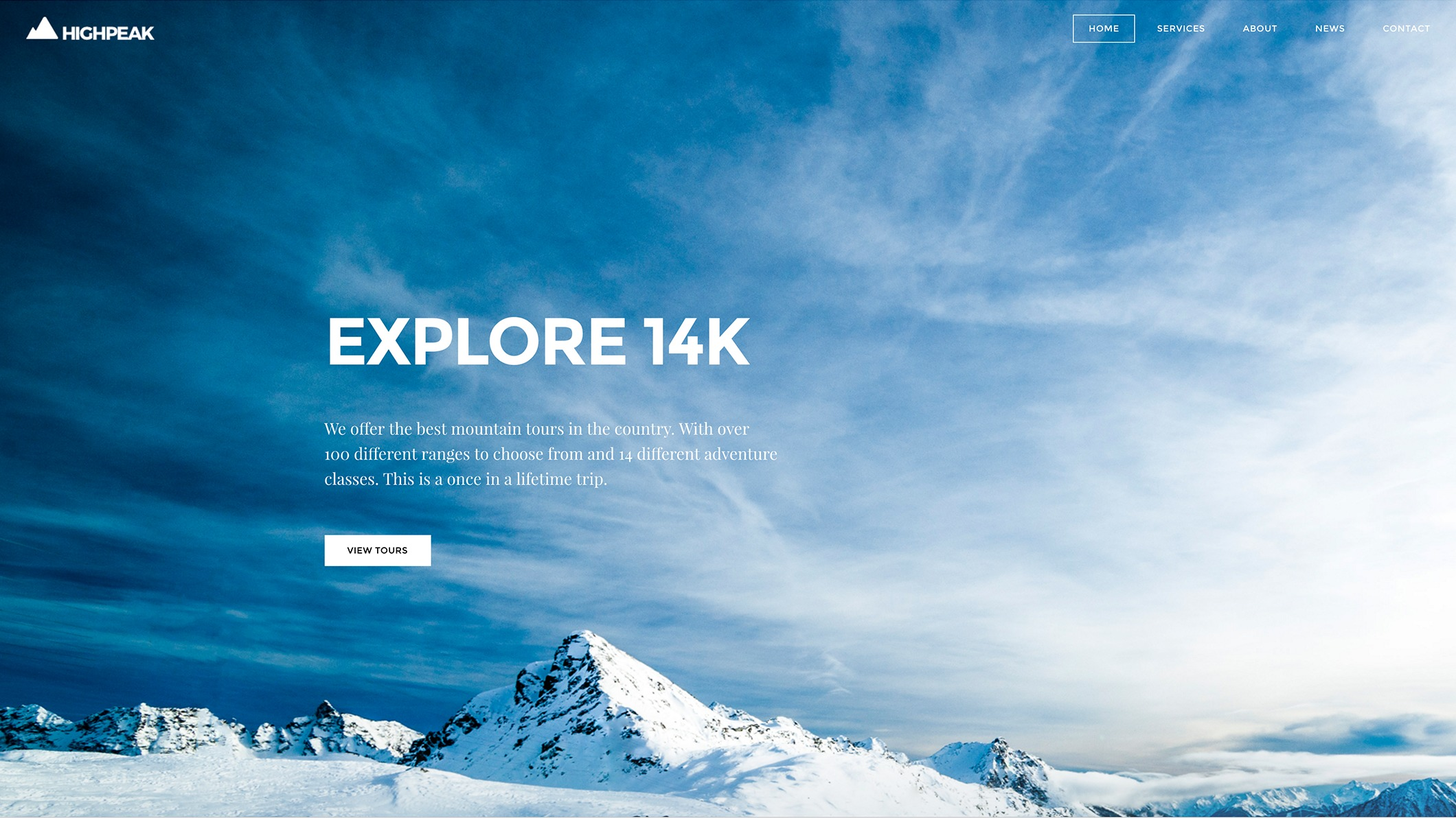 Weebly Theme 'High Peak'